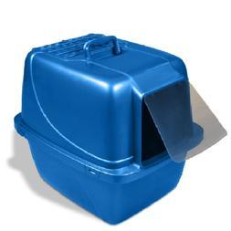 Huge Enclosed Cat Litter Pan Box Covered Pet Door Protect Od