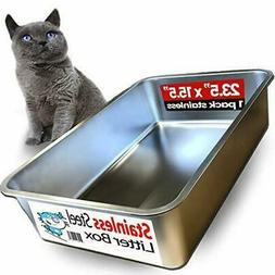 iPrimio Ultimate Stainless Steel Cat XL Litter Box - Never A