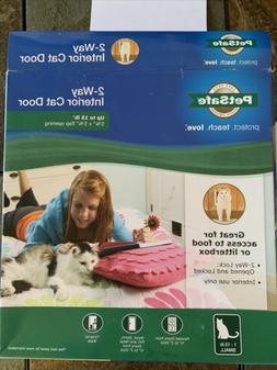 Interior 2-Way Locking Cat Door - open box