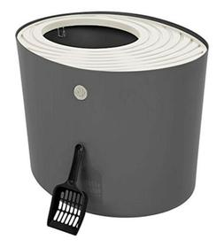 IRIS USA, Inc. IRIS Top Entry Cat Litter Box with Cat Litter