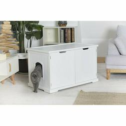 Jumbo Cat Litter Box Enclosure Pet Cabinet Hidden Toilet Cov