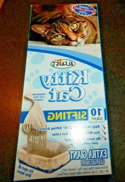 Alfa Pet Kitty Cat 10 Count Sifting Extra Giant Cat Pan Line