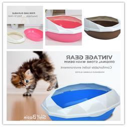 Kitty Cat Litter Box Removable Shell Easy To Clean with Scoo