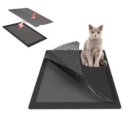 Kitty Litter Mat Trapping Small Tray Catch Corner Cat Best C