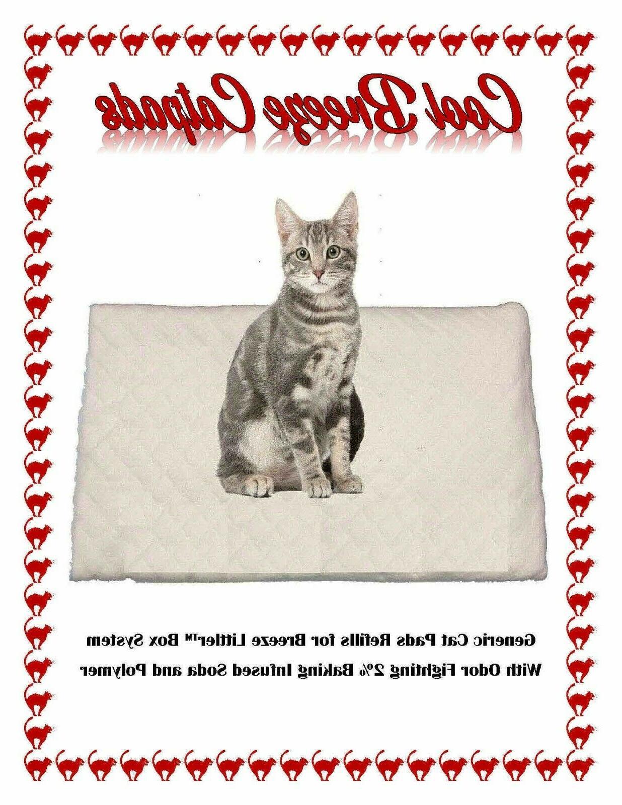 200 cool breeze litter box cat pads