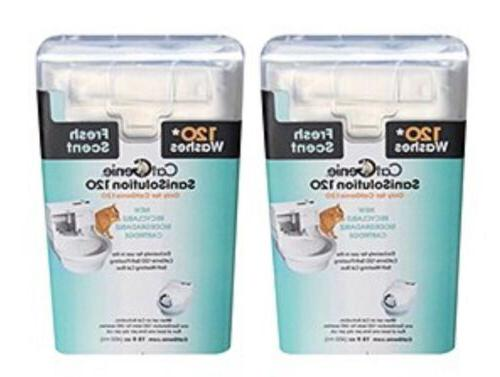 120 sanisolution smartcartridge fresh scent 2 pack