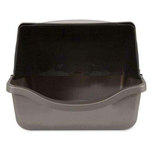 Petmate Pan, Brushed Nickel gray