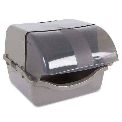 22793 retracting litter pan brushed nickel gray