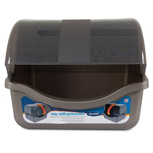 Petmate Retracting Litter Pan, Brushed