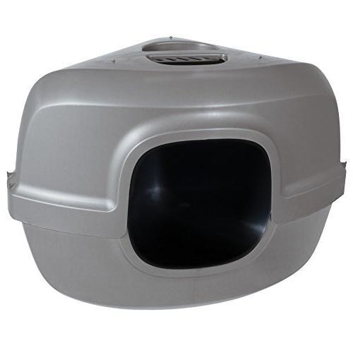 42102 hooded corner litter pan