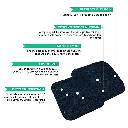 Think Catit Box Filters, Compatible Part 50685, 50700, 50701, 50702, 50722, & Fits Hooded Pans, Jumbo Pans &