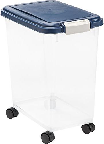 Iris Usa, Inc. Mp-8 Storage Container W/Airtight Navy Lid 30