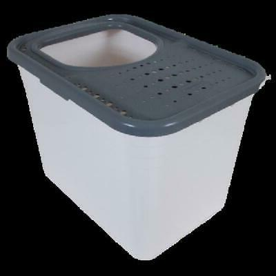 Arm & Hammer Top Entry Cat Litter Box, Light Gray