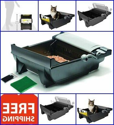 automatic litter box cat self cleaning cat