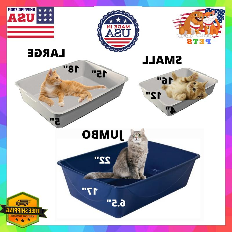 Cat Litter Box Small/Large/Extra Large XL Jumbo Giant Open T