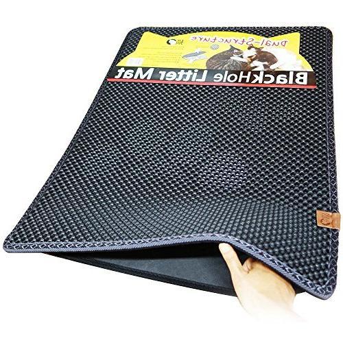 blackhole rectangular cat litter mat