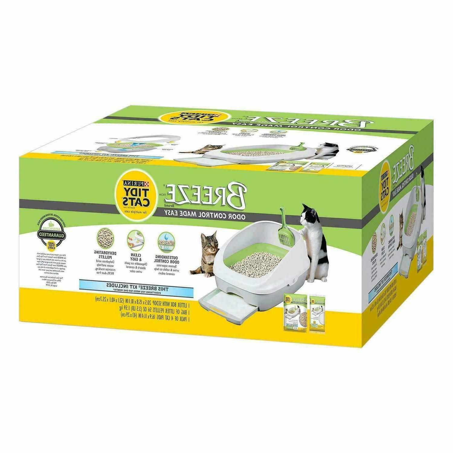 breeze cat litter box system white