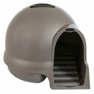 cat and kitten litter box dome top