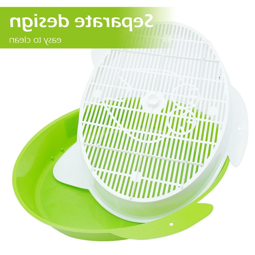 Tray Cat Rabbit Pee Toilet for Sifting <font><b>Litter</b></font> <font><b>Box</b></font> Pee Pad Tray Cleaning