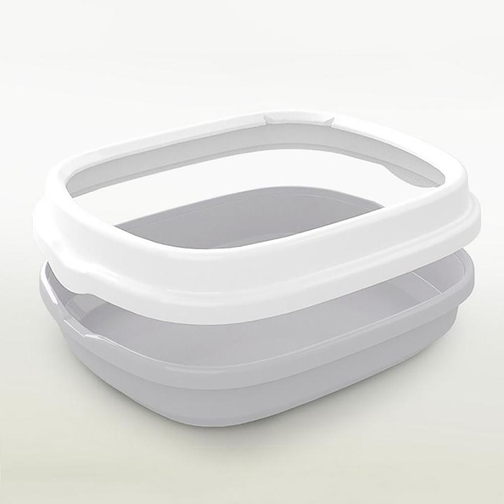 Cat Tray Simple And Open Semi-Enclosed Cat Sand Plastic <font><b>litter</b></font> * 33.5 * 12 cm