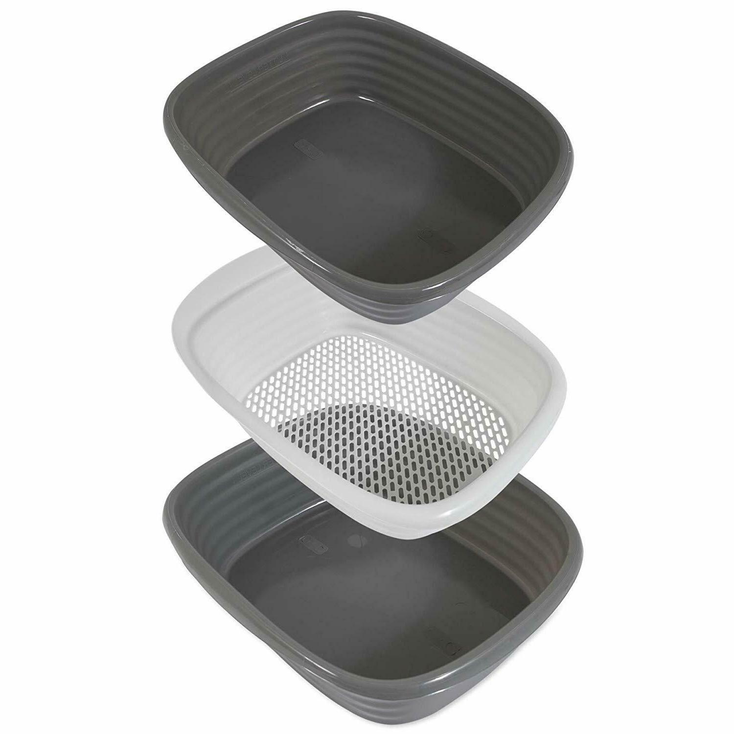 Cat Kitty Litter System Large Box Clean Slotted Tray