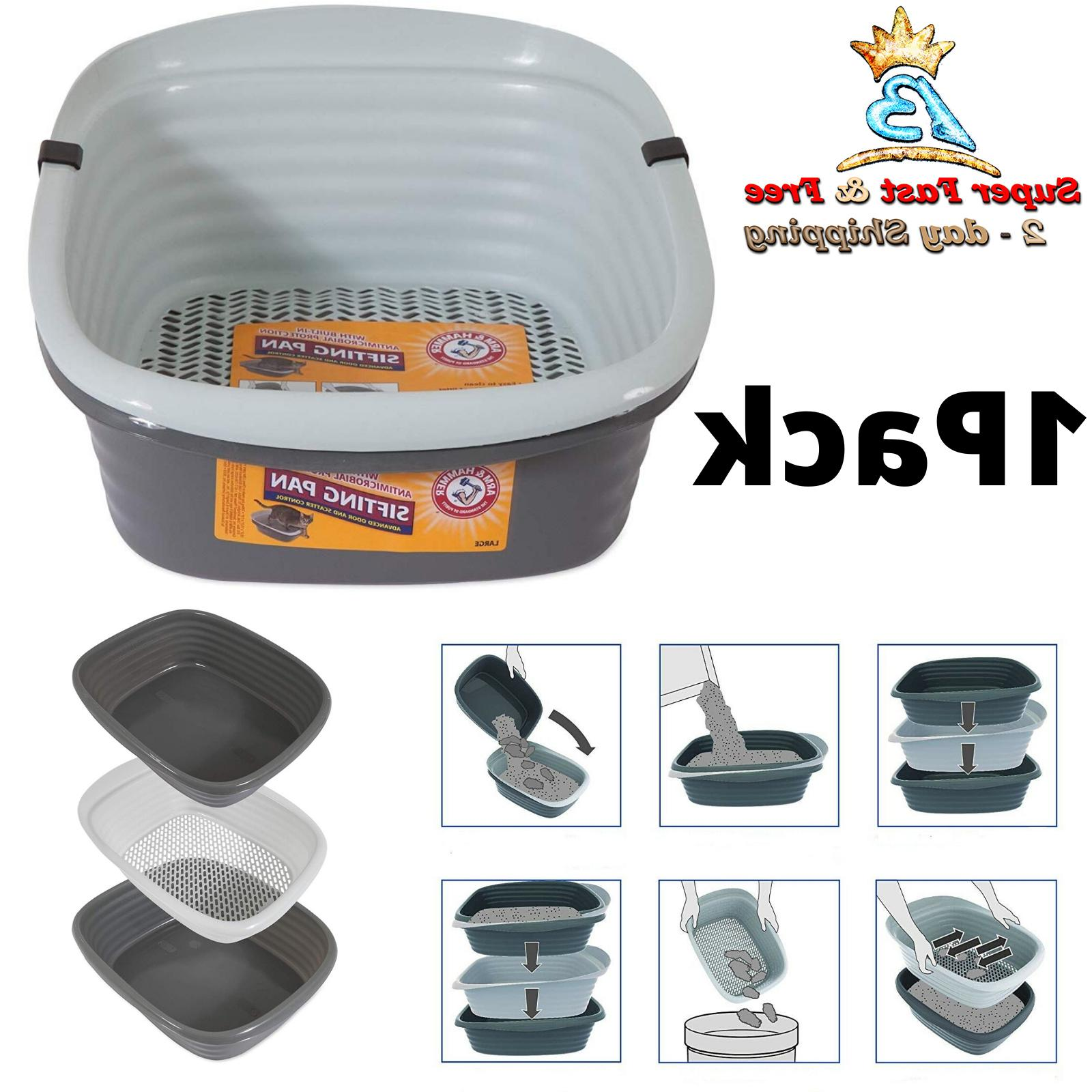 cat kitty litter pan system large self