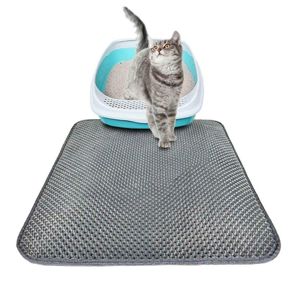 Cat Litter Box Mat Trapper Foldable Pet Rug Rubber