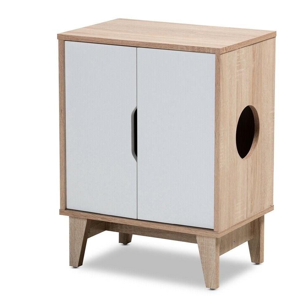 Cat Box Cat House Side Furniture White Brown