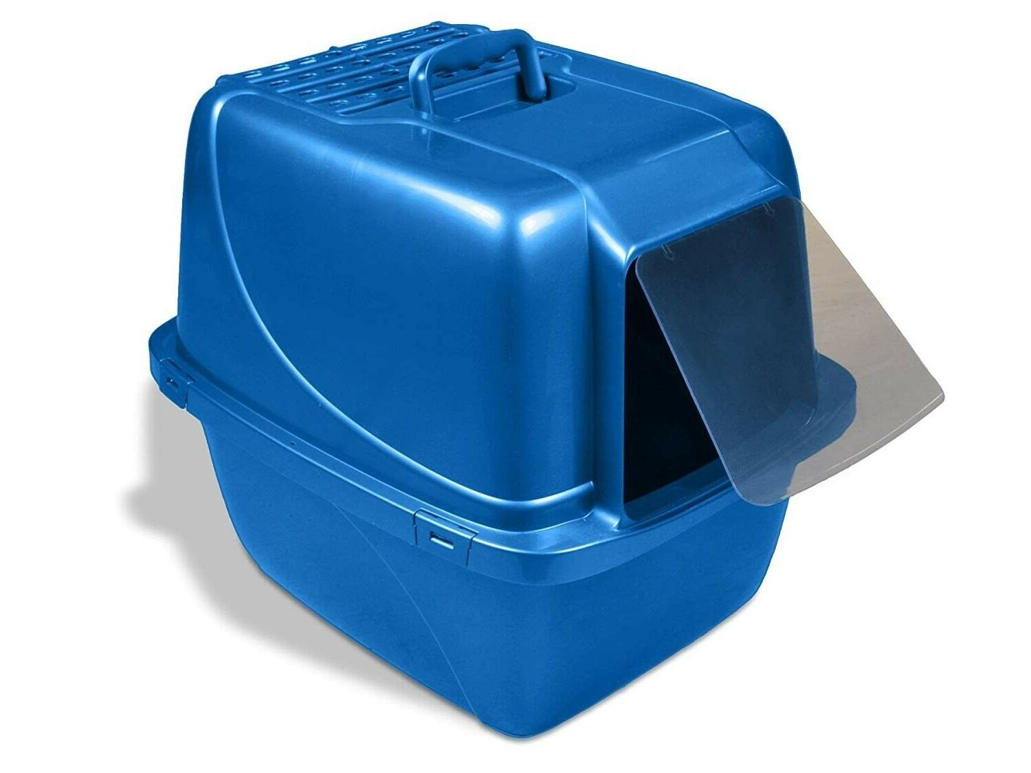 Cat Litter Box Covered , Extra-Giant Blue