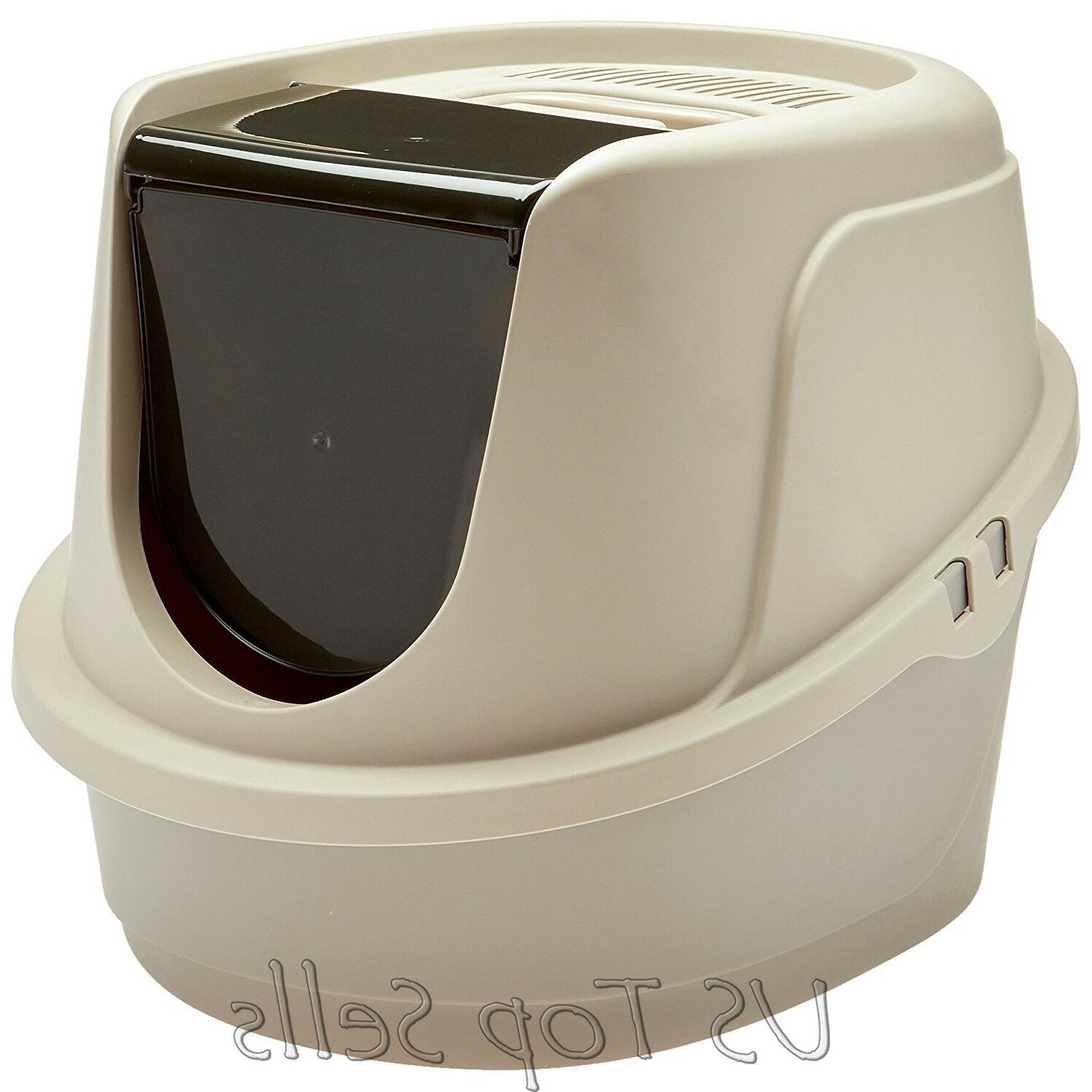 Cat Litter Box Pan Hooded Jumbo Giant Covered Kitty Extra Large/L