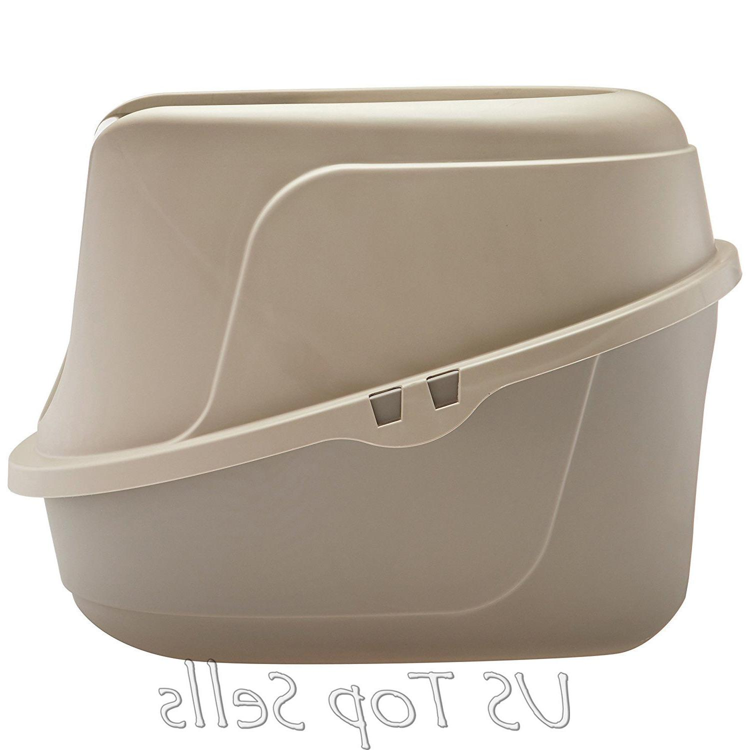 Cat Litter Box Pan Jumbo Covered Kitty Extra Large/L