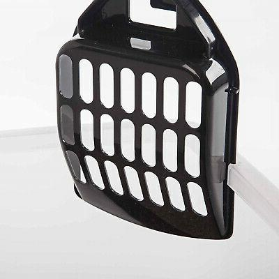 Cat Litter Box Tall Large with Shield Scoop Enclosed Kitty Pan