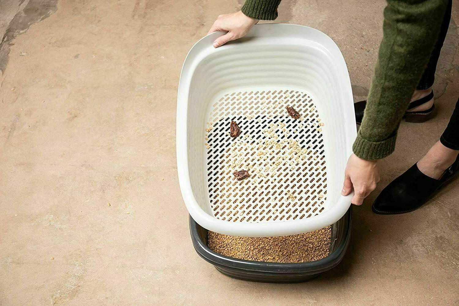 Cat Self Clean Slotted Tray 3 Part