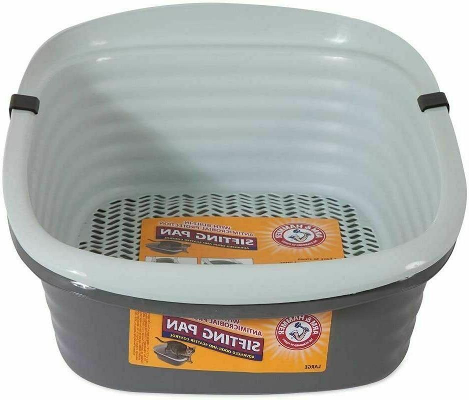 cat litter box large self sifting pan
