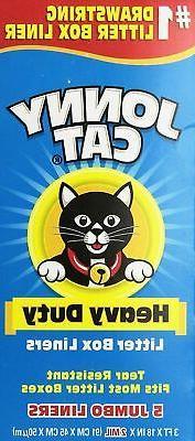 JONNY CAT Cat Litter Box Liners 5 / Box  Pack of 4
