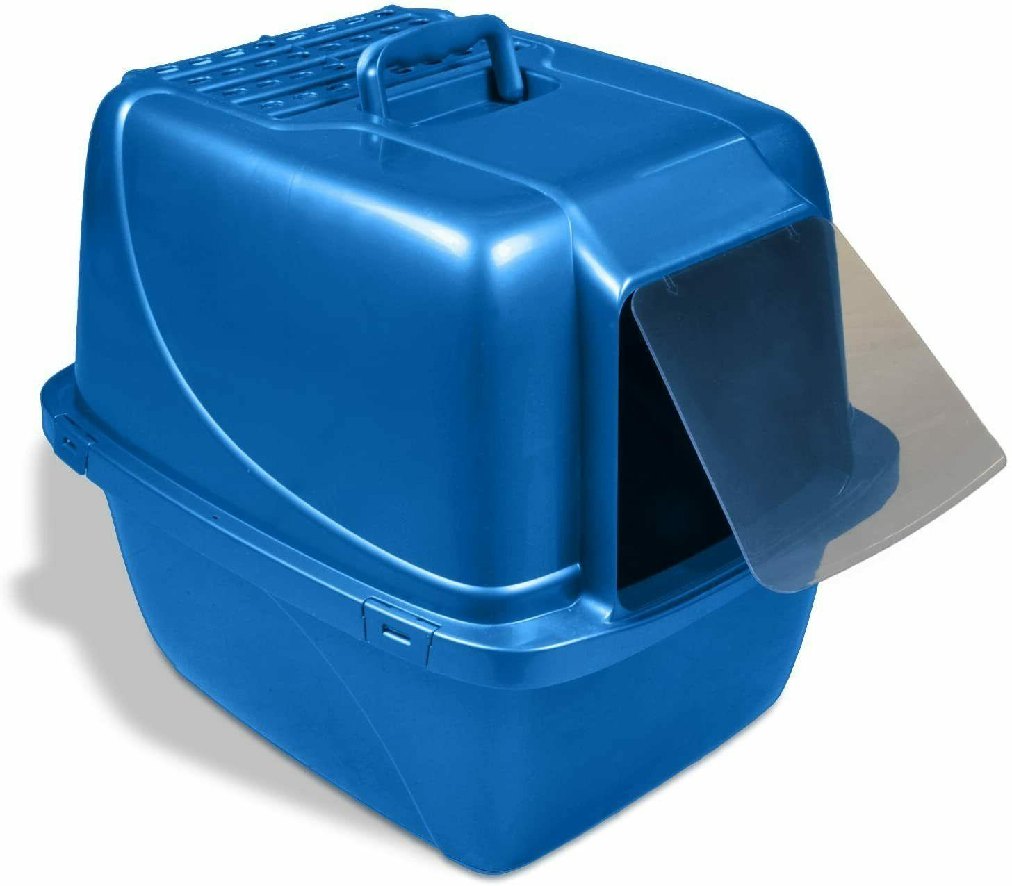extra large cat litter box enclosed pan