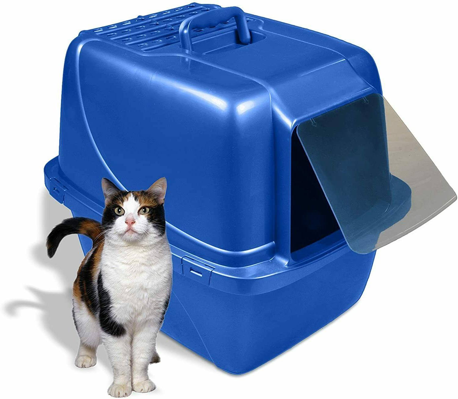Extra Cat Litter Box Enclosed Jumbo