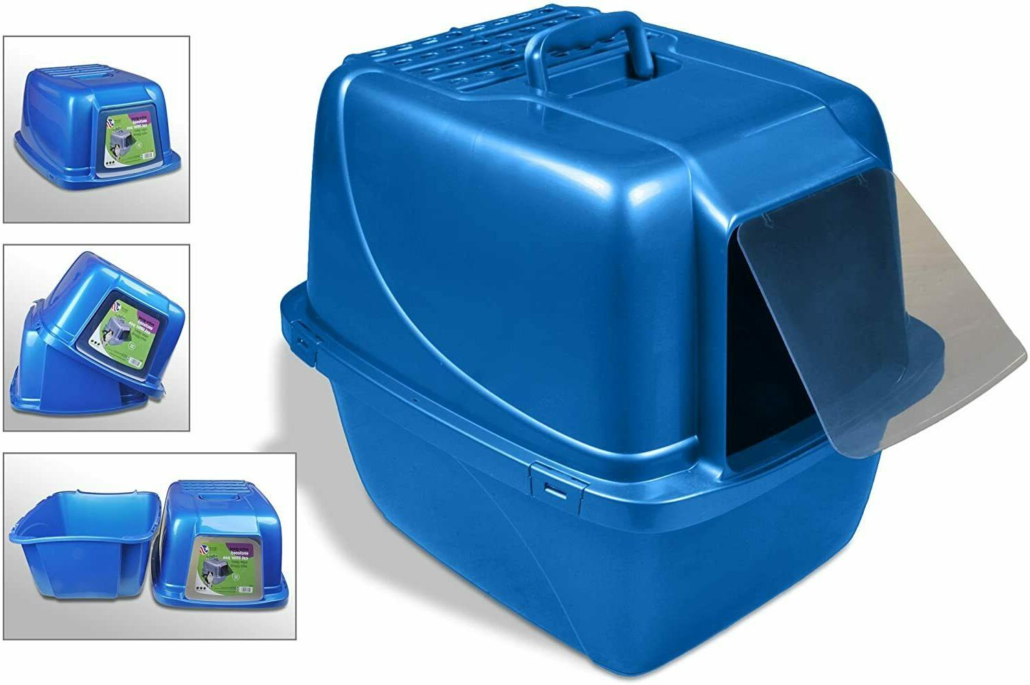 Extra Cat Litter Box Enclosed Pan Hooded Jumbo Covered House