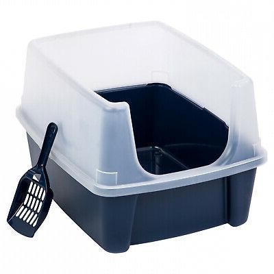 cat litter box tall large open top