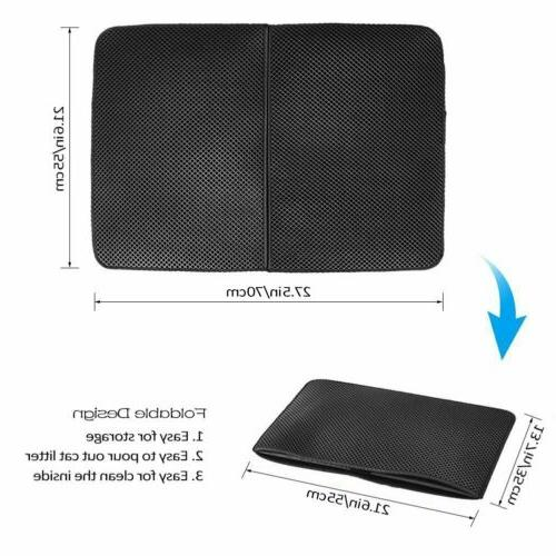 Cat litter Double Layer Pad Foldable Pad