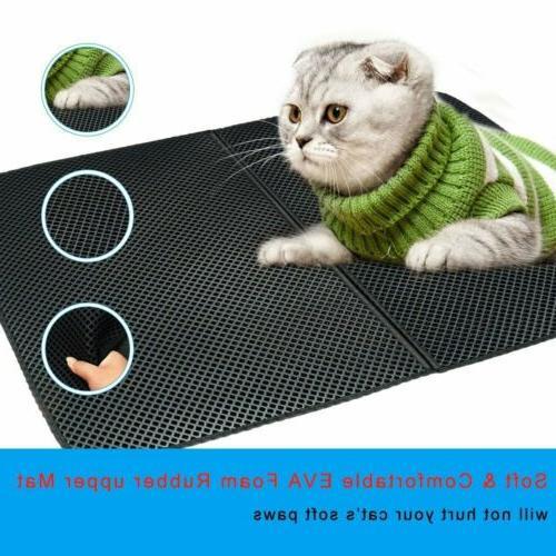 cat litter mat double layer pad trapper