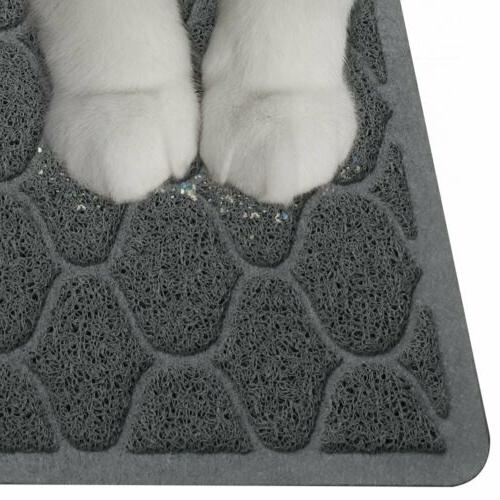 Cat litter Mat Double Layer Pad Large for Box Pan - Grey