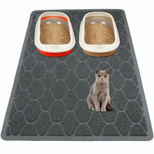 """Cat Litter Mat Litter Trapping -35""""x23"""" Large Kitty Litter B"""