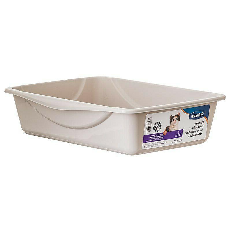 cat litter pan gray lightweight litter box