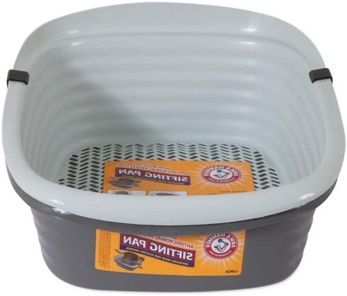 Sifting Litter Box Large Easy Clean Up Sifter Pan For Pets C