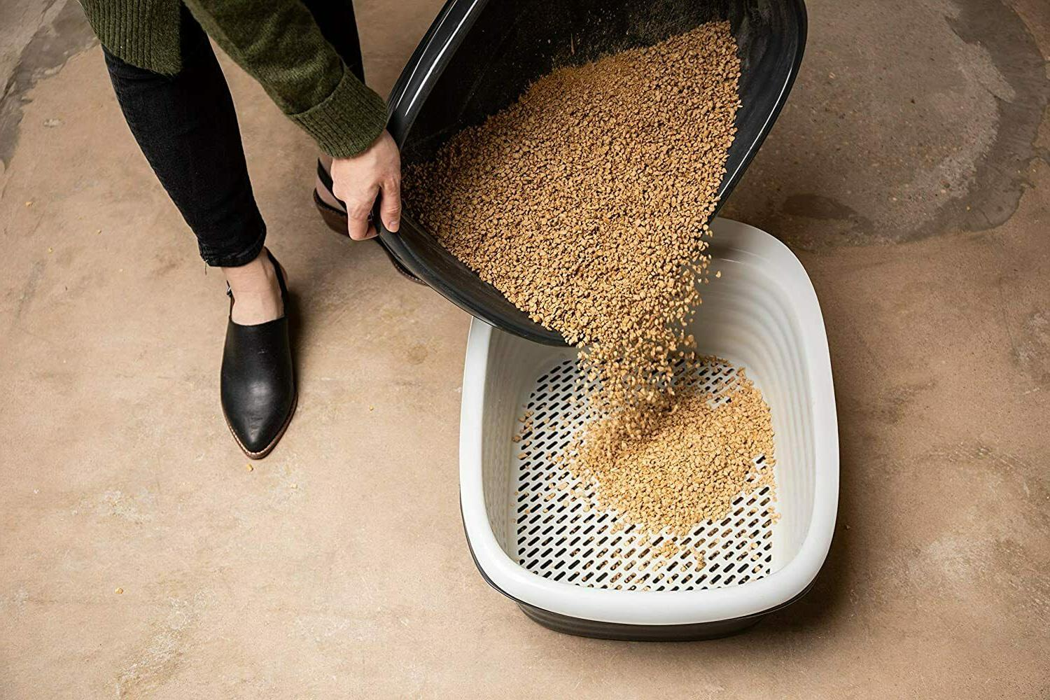 Cat Pan Self Sifting Clean Slotted 3 Part