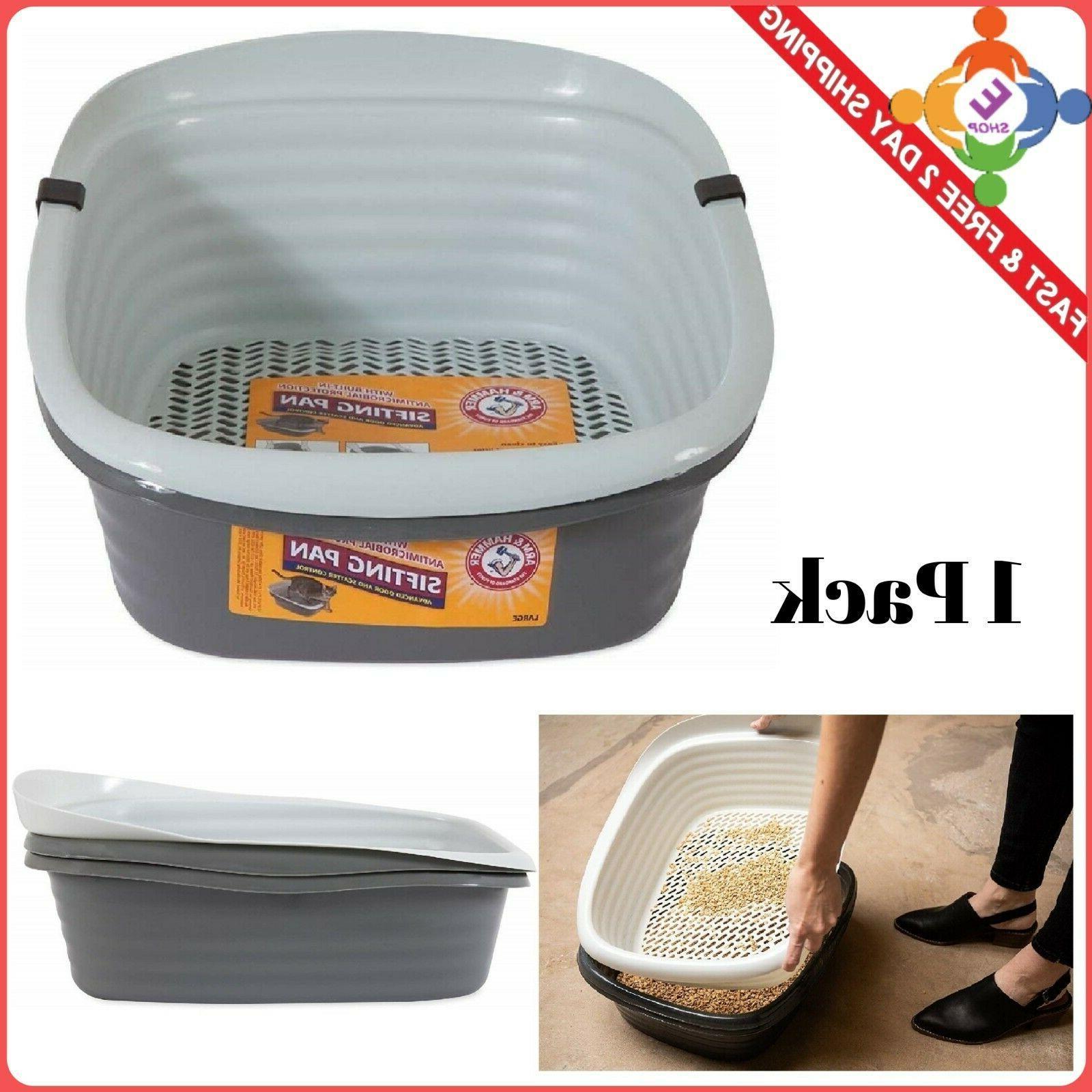 cat litter pan large self sifting box