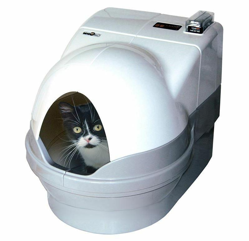 cat litter trays self cleaning box