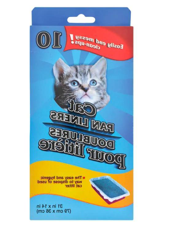 cat pan litter box liner bags two