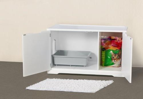 Merry Cat Washroom Bench, White